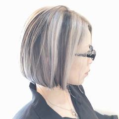 ハイライト ストリート グレージュ グラデーションカラー ヘアスタイルや髪型の写真・画像