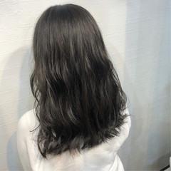 暗髪女子 おしゃれさんと繋がりたい 暗髪 セミロング ヘアスタイルや髪型の写真・画像