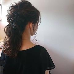 フェミニン パーティ ふわふわ ヘアアレンジ ヘアスタイルや髪型の写真・画像