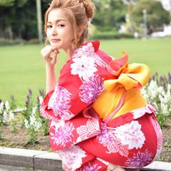 夏 セミロング 大人女子 ヘアアレンジ ヘアスタイルや髪型の写真・画像