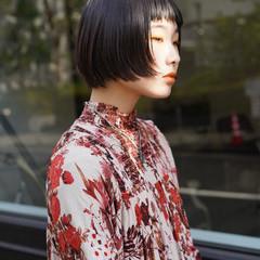 透明感 モード ボブ ショートボブ ヘアスタイルや髪型の写真・画像