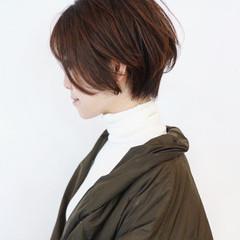 ショートヘア ハイライト パーマ ショートボブ ヘアスタイルや髪型の写真・画像