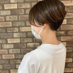 アディクシーカラー 前髪 ハンサムショート ショート ヘアスタイルや髪型の写真・画像