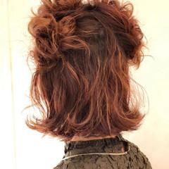 ガーリー ヘアアレンジ ボブ 成人式 ヘアスタイルや髪型の写真・画像