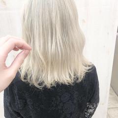 ホワイト ホワイトベージュ ホワイトカラー モード ヘアスタイルや髪型の写真・画像