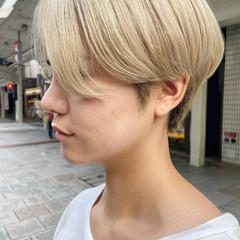 ショート ブリーチ ハンサムショート ホワイトブリーチ ヘアスタイルや髪型の写真・画像