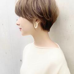 ナチュラル 大人可愛い ベリーショート ひし形シルエット ヘアスタイルや髪型の写真・画像
