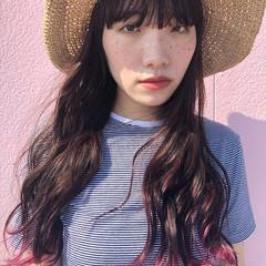 透明感カラー グラデーションカラー ナチュラル ロング ヘアスタイルや髪型の写真・画像