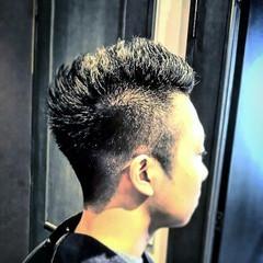 ストリート メンズ 刈り上げ ボーイッシュ ヘアスタイルや髪型の写真・画像