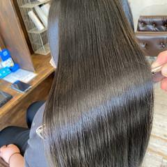 髪質改善カラー 暗髪 艶髪 艶カラー ヘアスタイルや髪型の写真・画像