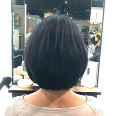 艶髪 ボブ 内巻き 大人可愛い ヘアスタイルや髪型の写真・画像