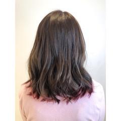 大人ヘアスタイル フェミニン ピンク ラズベリーピンク ヘアスタイルや髪型の写真・画像