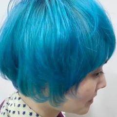 ハイトーンカラー ハイトーン ショート ガーリー ヘアスタイルや髪型の写真・画像