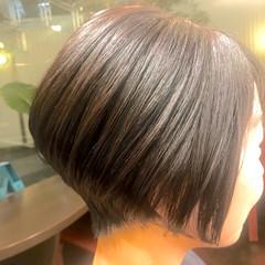 オフィス ショート ラフ 美シルエット ヘアスタイルや髪型の写真・画像