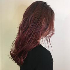 春色 チェリーピンク ブリーチオンカラー ブリーチ必須 ヘアスタイルや髪型の写真・画像