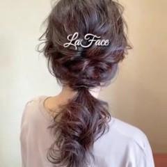 結婚式 フェミニン パーティ デート ヘアスタイルや髪型の写真・画像