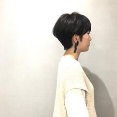 耳掛けショート 小顔ショート ショート ベリーショート ヘアスタイルや髪型の写真・画像