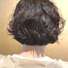 モード パーマ  アッシュグレージュ ヘアスタイルや髪型の写真・画像