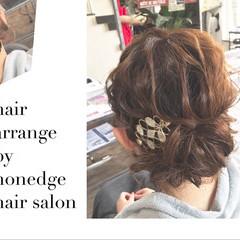 お呼ばれヘア ヘアアレンジ エレガント 結婚式 ヘアスタイルや髪型の写真・画像