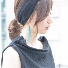フェミニン ヘアアレンジ オフィス デート ヘアスタイルや髪型の写真・画像