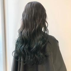ロング モード ブルージュ ブルー ヘアスタイルや髪型の写真・画像