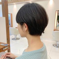 ハンサムショート ショート ナチュラル マッシュショート ヘアスタイルや髪型の写真・画像