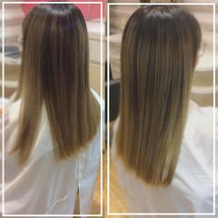 髪質改善トリートメント ハイトーン ハイトーンカラー ロング ヘアスタイルや髪型の写真・画像