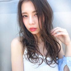 夏 ヘアアレンジ フェミニン ゆるふわ ヘアスタイルや髪型の写真・画像