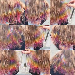 ストリート ハイトーン ヘアカラー 派手髪 ヘアスタイルや髪型の写真・画像