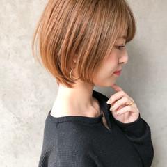 ナチュラル ショート デート インナーカラー ヘアスタイルや髪型の写真・画像
