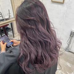 ピンクラベンダー バイオレット ラベンダーグレージュ ナチュラル ヘアスタイルや髪型の写真・画像