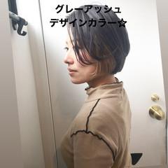 インナーカラー ストリート ショートヘア ミニボブ ヘアスタイルや髪型の写真・画像
