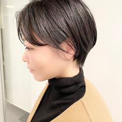 大人かわいい ショートボブ ショートヘア オフィス ヘアスタイルや髪型の写真・画像