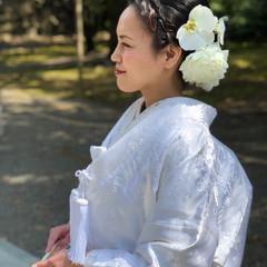 ヘアセット 結婚式 和装髪型 ヘアアレンジ ヘアスタイルや髪型の写真・画像