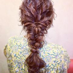 簡単ヘアアレンジ ヘアアレンジ お呼ばれ 編みおろし ヘアスタイルや髪型の写真・画像