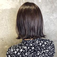 ボブ 暗髪 グレージュ ミニボブ ヘアスタイルや髪型の写真・画像
