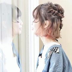 猫耳 ストリート インナーカラー ヘアアレンジ ヘアスタイルや髪型の写真・画像