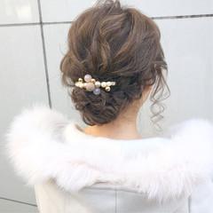 簡単ヘアアレンジ ロング ナチュラル アンニュイほつれヘア ヘアスタイルや髪型の写真・画像