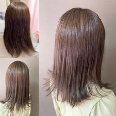 くせ毛風 髪質改善トリートメント 外ハネ ロング ヘアスタイルや髪型の写真・画像