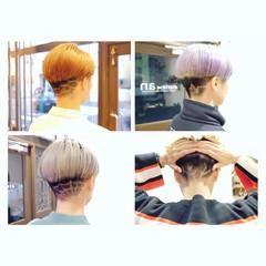 モード ラインアート 刈り上げ女子 刈り上げショート ヘアスタイルや髪型の写真・画像