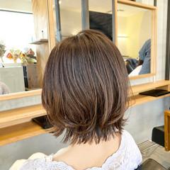 レイヤースタイル ボブ レイヤーボブ 切りっぱなしボブ ヘアスタイルや髪型の写真・画像