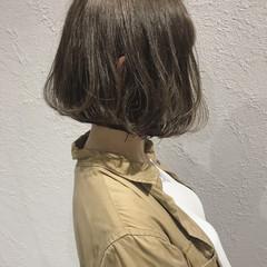ゆるふわ ボブ デート アウトドア ヘアスタイルや髪型の写真・画像