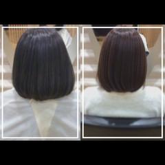 社会人の味方 ボブ 髪質改善カラー 髪質改善トリートメント ヘアスタイルや髪型の写真・画像