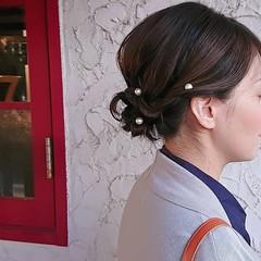 ボブ 着物 ヘアアレンジ ママ ヘアスタイルや髪型の写真・画像