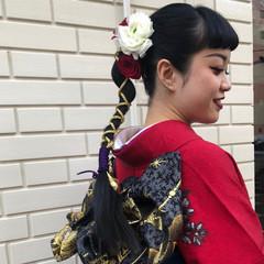 浴衣アレンジ モード ロング ヘアセット ヘアスタイルや髪型の写真・画像