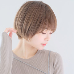 丸みショート ナチュラル ショート ショートヘア ヘアスタイルや髪型の写真・画像