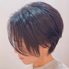 ナチュラル ミニボブ ベリーショート ウルフカット ヘアスタイルや髪型の写真・画像