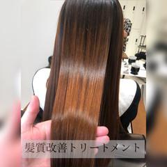 髪質改善トリートメント 髪質改善 ナチュラル 360度どこからみても綺麗なロングヘア ヘアスタイルや髪型の写真・画像