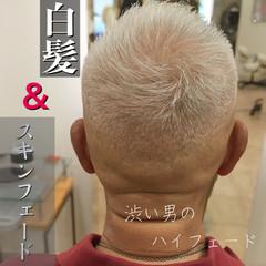 ショート ナチュラル メンズ 刈り上げ ヘアスタイルや髪型の写真・画像