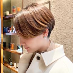 ベリーショート ナチュラル ショート マッシュショート ヘアスタイルや髪型の写真・画像